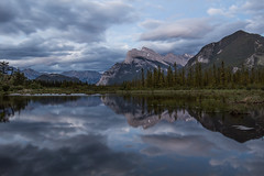 Vermillion Lakes after sunset (deirdre.lyttle) Tags: banff banffnationalpark mountains vermillionlakes sunset