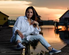 Moncsi (randras83) Tags: nikon converse d750 bokod sunset girl portrait woman beuty beauty lake outdoor fájhaamehecskemegcsip