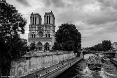 Notre Dame Black&White (Damien BOURGERY) Tags: notre dame paris europe night lights canon eos rebel sl1 monument black white 1635 l lense city france street photography