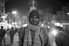 Portrait, Varanasi India (mafate69) Tags: asia asie asiedusud souscontinent southasia subcontinent india inde up uttarpradesh varanasi benares benaras kashi bw blackandwhyte noiretblanc nb night nuit portrait photojournalisme photojournalism photoreportage rue reportage street streetshot streetlevelphoto documentary documentaire mafate69 man candid city