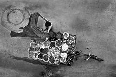 Vegetable Seller (Rk Rao) Tags: streetsellerstreetphotographyvegetablesseller peopleplacesstoriestruelifedailylifeblackandwhitebir newdelhi delhi india peopleplacesstoriestruelifedailylifeblackandwhitebirdrkrao