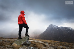 The Man And His Mountain (SLP_Photography) Tags: glencoe scotland scottish mountains glen coe buachaille etive mor beinn achrulaiste clouds moody adventure photography canon 5d4 1740mm