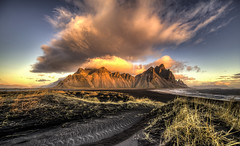 Vestrahorn in Iceland (Nick L) Tags: landscape iceland mountain vestrahorn vesturhorn clouds mountains hofn stokksnes sea water sunrise dawn seascape canon5d3 canonef1124f4l 1124l sky ice vatnajökullnationalpark vatnajökull wild panorama panoramic nature art