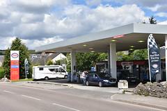 Esso, Grantown on Spey Scottish Highlands. (EYBusman) Tags: esso petrol gas gasoline filling service station garage mrh spay scottish highlands exxon mobil torq eybusman grantown