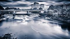 Clydeside (ianmiddleton1) Tags: glasgow riverclyde longexposure monochrome splittone weir bridge hss sliderssunday