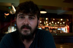 Jay at the Freemasons (cshelleybrown) Tags: portrait face person people jay jason beard man boy pub lights nikon d3300 hove