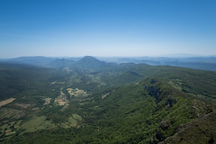 Valley (Ville Nikula) Tags: france blue vaellus pyrenees hiking mountains green vuori bugarach vuoristo mountain