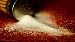 The White Poison / Refined Table Salt (Mohammed Qamheya) Tags: doha qatar macromondays poisonous poison salt table red nikon d7000 d7k nikkor afsmicronikkor600mmf28ged 600mm f40 iso100 14s 12062017 micro