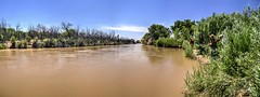 Escondida Burn area and the 9 mile outfall (JoelDeluxe) Tags: riogrande mrg bosque water sediment river habitat restoration sites levees spring2017 flood nm newmexico joeldeluxe attributionusfws