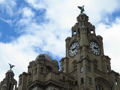 Liver birds maintain watch over Liverpool (Nigel L Baker) Tags: liver birds liverpool