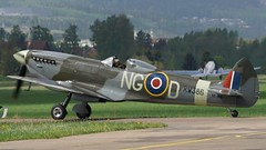Supermarine 361 Spitfire LF.XIVE RW386 at Kjeller Air Show 2017 (J.Comstedt) Tags: kjeller show 2017 oslo norway field airport aircraft aviation airplane supermarine 361 spitfire sebir raf rw386gbxvi air johnny comstedt