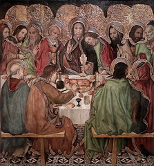 IMG_4705 Jaume Huguet. 1412-1492. Barcelone.  La Cène. The Last Supper. Vers 1470.    Barcelone  Museu Nacional d'Art de Catalunya (MNAC) (jean louis mazieres) Tags: peintres peintures painting musée museum museo espagne spain espana barcelone barcelona museunacionaldartdecatalunya mnac