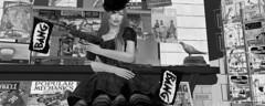 Bang! Bang! (BlueKleinSL) Tags: sl second life vintage hat magazine