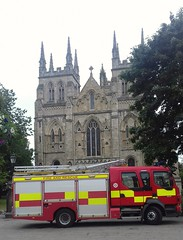 Selby Fire Engine At Selby Abbey (Gary Chatterton 3 million Views Thank You All) Tags: selbyabbey northyorkshirefireservice selbyfireengine selby northyorkshire emergencyservices volvo fireengine truck wagon lorry flickr explore