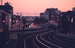 Dusky Sörnäinen (Bunaro) Tags: dusk dusky sörnäinen kalasatama helsinki metro station rails suomi finland sunset calm purple sky charming cityscape landscape