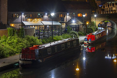 What a place to moor up (Kev Gregory (General)) Tags: black buck narrow boat barge narrowboat country ring kev gregory canon 7d canal england midlands distillery night photography birmingham city centre blackbuck