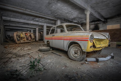 Made by Ost, no rost ! (marcelplette) Tags: urbex urban exploration forgotten abandoned hdr car ddr decay beautiful germany verfall vergessen lost places trabant
