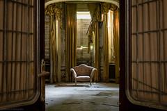 The Traveller (maxmene70) Tags: urbex urban canon chair sedia exploration decay rays sun dark light door porta luce eplorazione abbandonato