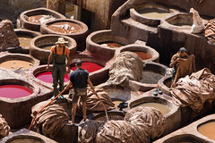 Chouara workers (Adrià Páez) Tags: chouara workers tannery trabajadores clothes ropas medina fes fez marruecos maroc morocco maghreb north norte africa áfrica red rojo canon eos 7d mark ii people gente grupo group men hombres
