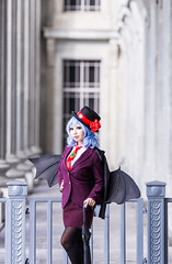 Remilia Scarlet (colorized) (bdrc) Tags: asdgraphy remilia scarlet touhou project cosplay girl portrait outdoor takako architecture singapore overseas photoshoot travel asia mafia boss family cosa nostra canon 6d fullframe 200mm f2 prime tele telephoto national gallery hss urban city