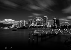The Village Dock (Photo Righter Photography) Tags: thevillagedock scienceworld skyscrapers falsecreek vancouver bw beautifulbritishcolumbia beautifularchitecture
