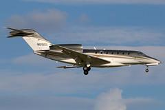 N610CG Cessna 750 Citation X at KCLE (GeorgeM757) Tags: n610cg cessna cessna750citationx citationx bizjet kcle georgem757 corporatejet clevelandhopkins landing