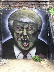 Graffiti in the Brick Lane area of Shoreditch (Ian Press Photography) Tags: graffiti brick lane area shoreditch street art streetart london donald trump