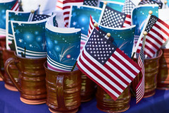 Made in America, Probably (DaveLawler) Tags: made america flag flags redware cup coffee programs printed firework stars stripes independence 4th july pottery naturalization immigration