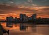 Clyde sunset (raymond_carruthers) Tags: glasgowharbour apartments sunset river riverclyde city govanpier sunsetcolours longexposure scotland glasgow