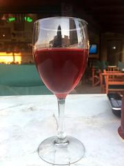 A Glass of Rosé (RobW_) Tags: glass rosé wine reflection freddiesbar tsilivi zakynthos greece saturday 24jun2017 june 2017