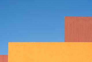 Yellow and orange wall