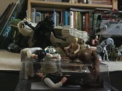 The Funeral (splinky9000) Tags: star wars toys action figures hasbro kylo ren the force awakens black series han solo funeral coffin princess leia organa chewbacca chewie wookie bespin luke skywalker c3po r2d2