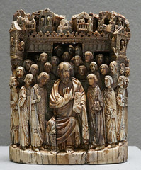 Fragment of a relief - Saint Mark and his successors? Alexandria? 7th Century? (Monceau) Tags: muséedulouvre louvre relief sculpture ivory stmark successors alexandria 7thcentury macro