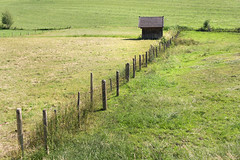 The fence in the meadows - (keinidyll) Tags: bavaria berchtesgadenerland hut landscape summer fence fields meadows