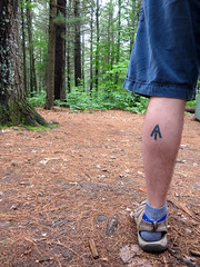 Mark of the Hiker (Georgie_grrl) Tags: bonecho campingtrip topw unofficialevent provincialpark beautifulnature ontario friends tattoo calf markedman hiker andrew