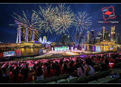 NDP2017 NE2 (musicexpression) Tags: singapore sg national day 2017 rehearsal marina bay floating platform cbd fireworks skyline waterfront mbs blue hour helix bridge arts science museum seating gallery