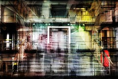 blankenberge (roberke) Tags: digitalart creation creative creatief surreal fantasy photomontage photoshop layers lagen textures textuur red rood windows ramen