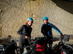 Diane and Olivier, from France, cycling south to Buenos Aires.