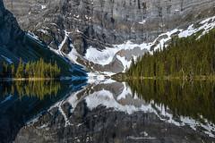 Rawson Lake, Alberta (Margarita Genkova) Tags: rawsonlake kananaskis alberta nature landscape closeup shapes shadowsandhiglights rockymountain reflection trees island earlymorning water lake serene pristine snow glacier
