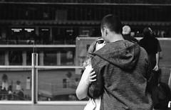 Love is in the air (•Nicolas•) Tags: 100iso bw fomapan france m4p nb paris woman girl femme man homme lovers amoureux kiss baiser people inconnus strangers nicolasthomas portrait couple young jeune