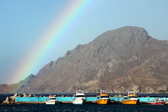 Rainbow Over the Harbour (Alan1954) Tags: holiday 2016 harbour boats rainbow crete