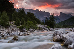 Hiking in Theth (Marc Böhning) Tags: theth albania alps hiking river stream sunset colorful sky awesome beautiful mountains nature hills bike trip glow remote guest house marashi thethi