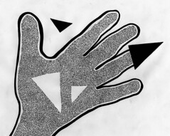 Embodied Hand (The 4.5-fold Path) (Daniel Ari Friedman) Tags: hand lines triangle curve left right line detail draw finger thumb hands grab grasp grok black white bw art drawing