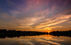 Mother nature's 4th of July.... (Kevin Povenz Thanks for the 3,800,000 views) Tags: 2017 july kevinpovenz westmichigan michigan maplewoodpark jenison ottawa ottawacounty evening sunset dusk sky eveningsky clouds color jesusrays canon7dmarkii sigma1020 pond water reflection outside outdoors sun yellow