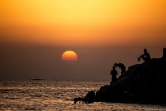 Sunset Budaiya (saadat_med) Tags: sunset sea shore beach budaiya bahrain