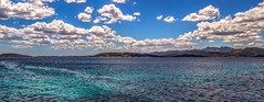 quelques nuages. (gillesfournier005) Tags: le05072017 mer d5100 bleu couleurs nuages horizon