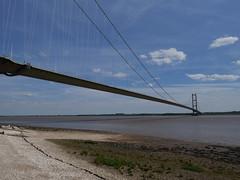 Humber Bridge (redshoesd) Tags: bridge humberbridge sky view water structure