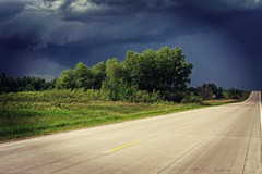 Sunshine and Approaching Storm (Dave Linscheid) Tags: road landscape drama sky rain storm watonwancounty mn minnesota usa