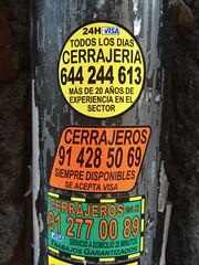 CERRAJERIA (frankrolf) Tags: 24horas arial arialrounded cerrajeria cerrajeros madrid stickers type:face=arial type:face=arialrounded