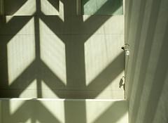 shadow surveillance (explored) (Soenke HH) Tags: form shape shadow camera surveillance pov black white pattern structure struktur schatten silhouette kamera licht sonne museum barcelona palaunacional olympus e5 swd1260 angle luz camara sol sombre explore explore08jul17